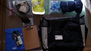 THe kit unpacked into its component bags